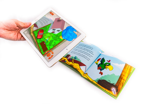 augmented reality story book in use