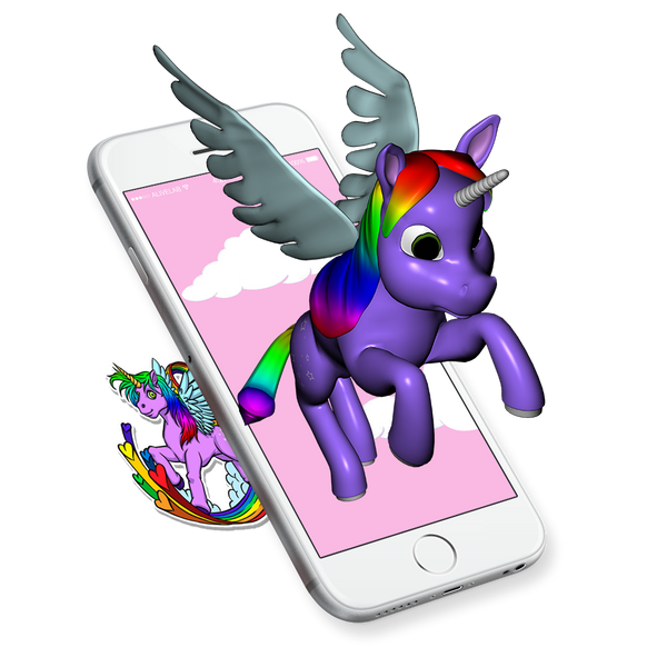 unicorn augmented reality sticker
