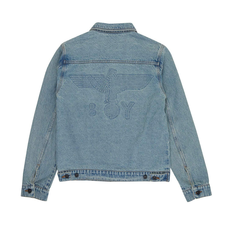 BOY LONDON BOY EAGLE BACKPRINT DENIM JACKET - SIZE M