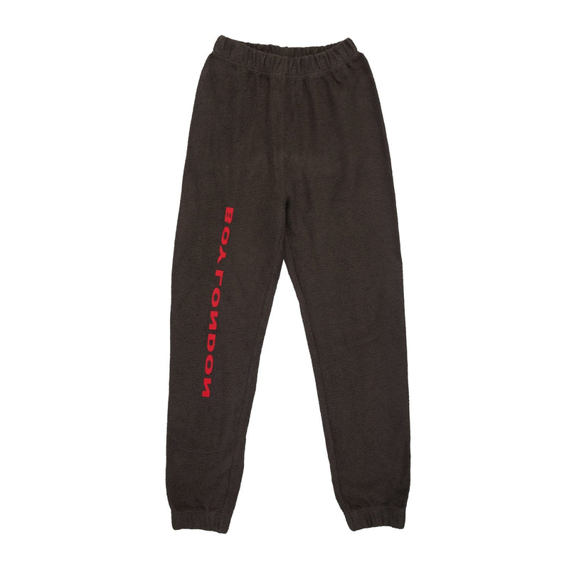 BOY LONDON BOY LONDON LOOPBACK JERSEY JOGGER WASHED BLACK/RED- SIZE M