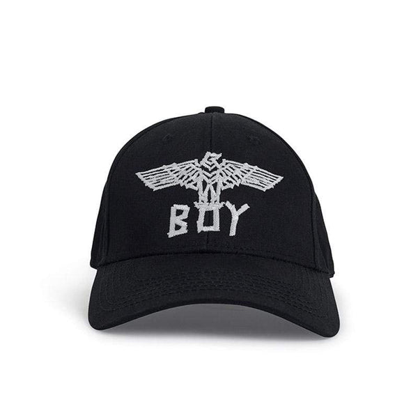 BOY LONDON CAP ONE SIZE / BLACK/WHITE BOY TAPE EAGLE CAP