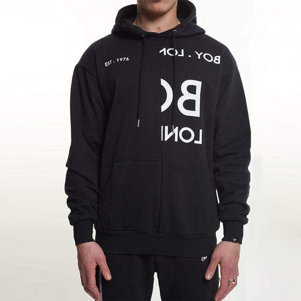 BOY London HOODIES Boy Typo Embroidery Hood - Black