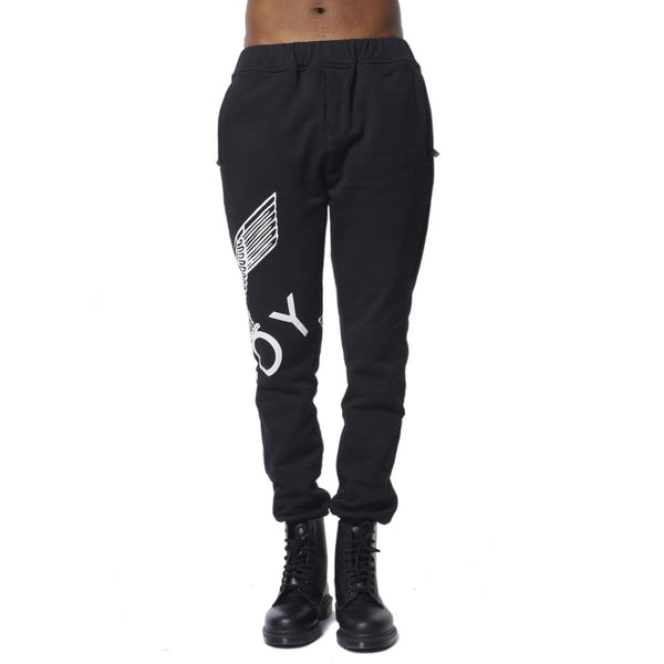 BOY LONDON JOGGERS BOY EAGLE JOGGERS - BLACK/WHITE