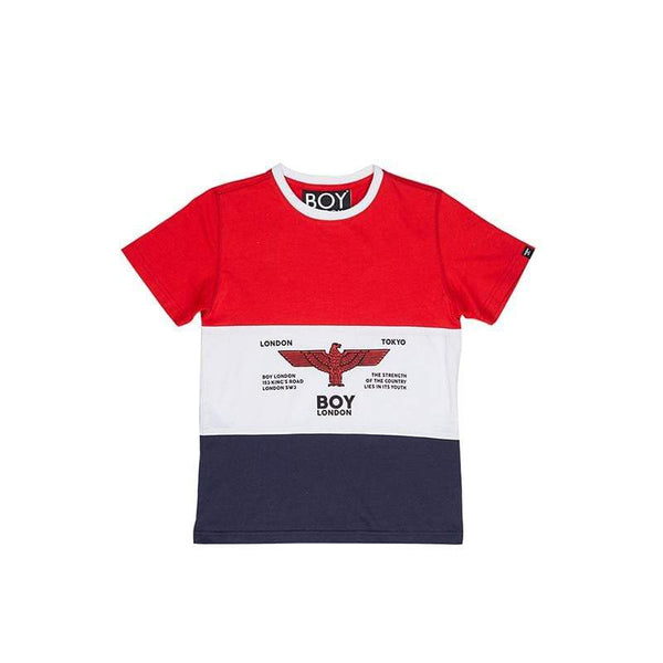 BOY LONDON KIDSWEAR 3-4 YEARS / NAVY/RED BOY RUGBY KIDS T-SHIRT