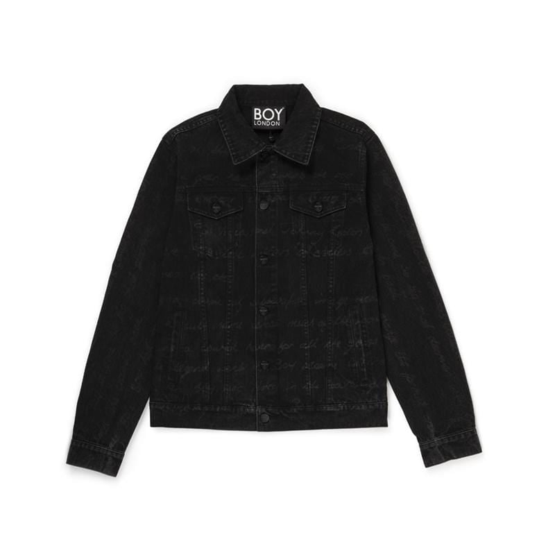 boy-london-shop JACKET BBSG HISTORY DENIM JACKET BLACK