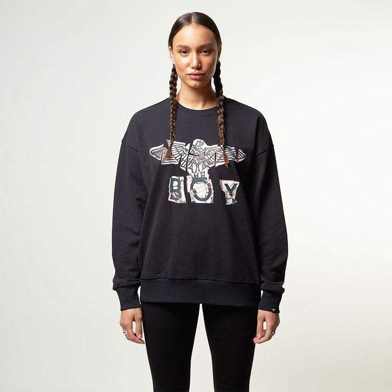 BOY London SWEATSHIRT Boy Jigsaw Sweatshirt - Black