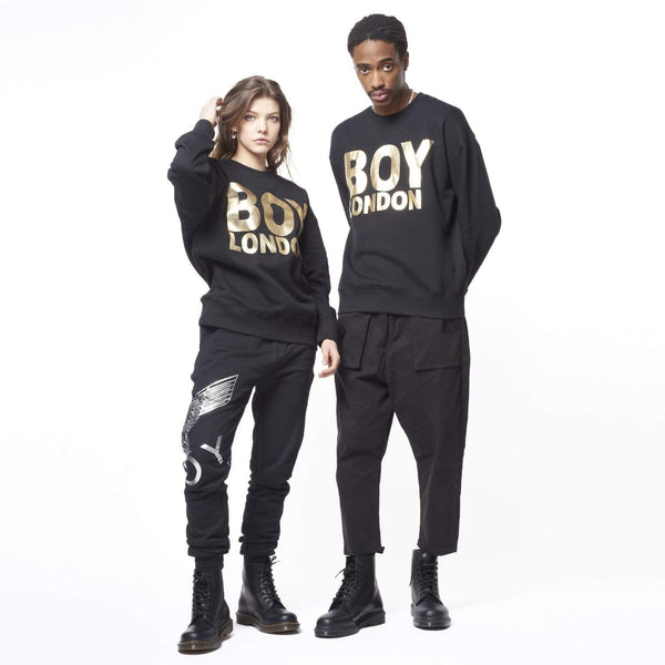 BOY LONDON SWEATSHIRT BOY LONDON SWEATSHIRT - BLACK/GOLD