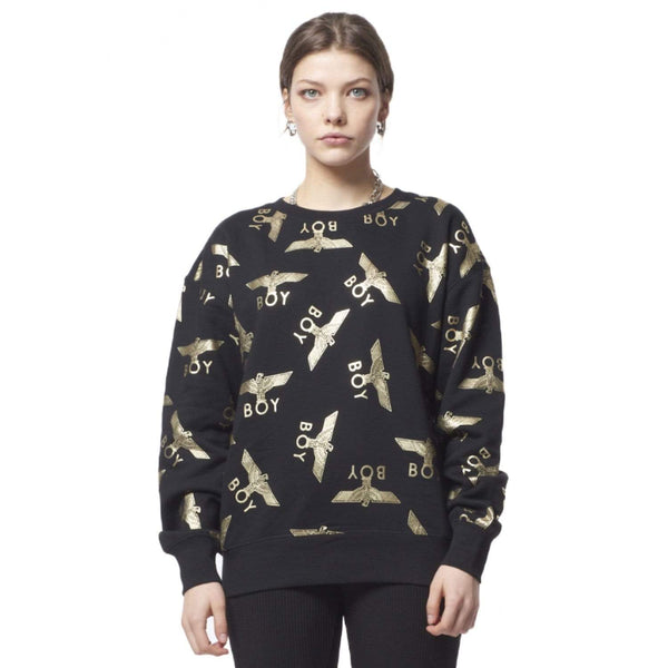 BOY LONDON SWEATSHIRT BOY REPEAT SWEATSHIRT - BLACK/GOLD