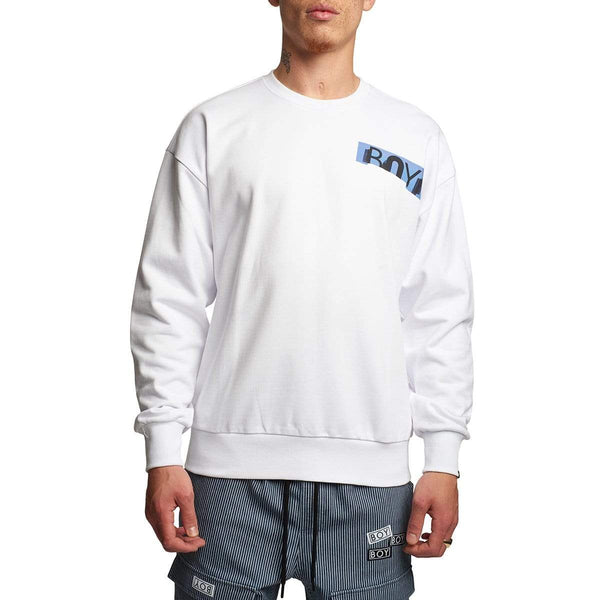 BOY LONDON SWEATSHIRT BOY SW3 SWEATSHIRT WHITE