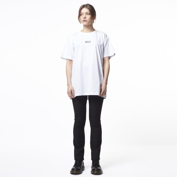 BOY LONDON T-SHIRT BOY EAGLE FLOCK TEE - WHITE