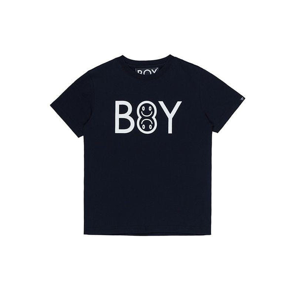 BOY London T-Shirt BOY EMOJI KIDS TEE BLACK/WHITE