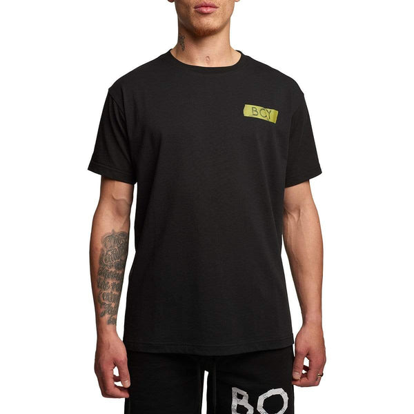 BOY LONDON T-SHIRT BOY STRIP TEE BLACK