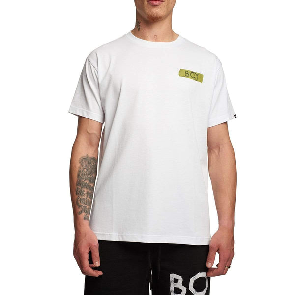 BOY LONDON T-SHIRT BOY STRIP TEE WHITE