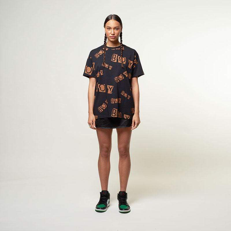 BOY London T-SHIRTS Boy Collage Repeat Tee - Black/Rust
