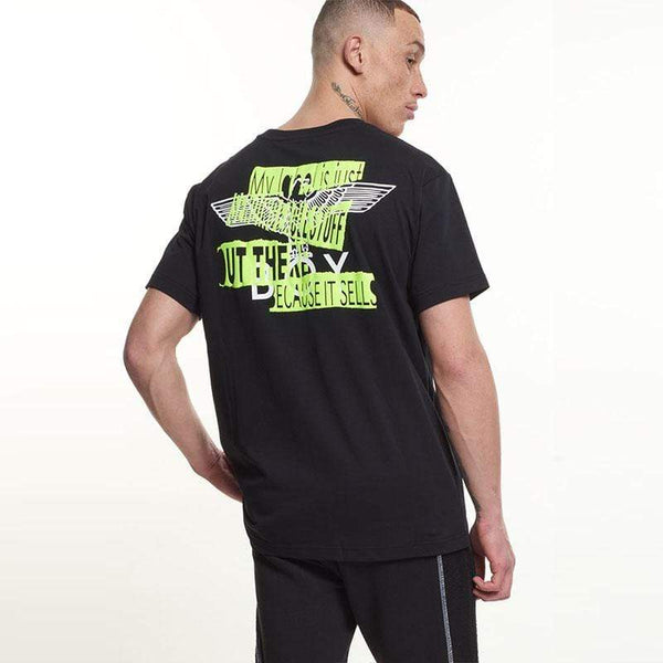 BOY London T-SHIRTS Boy Quote Tee - Black/Neon