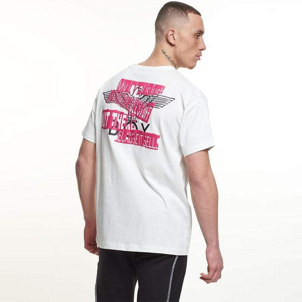 BOY London T-SHIRTS Boy Quote Tee - Off White/Pink