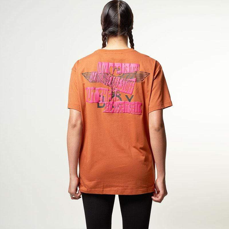 BOY London T-SHIRTS Boy Quote Tee - Rust/Pink