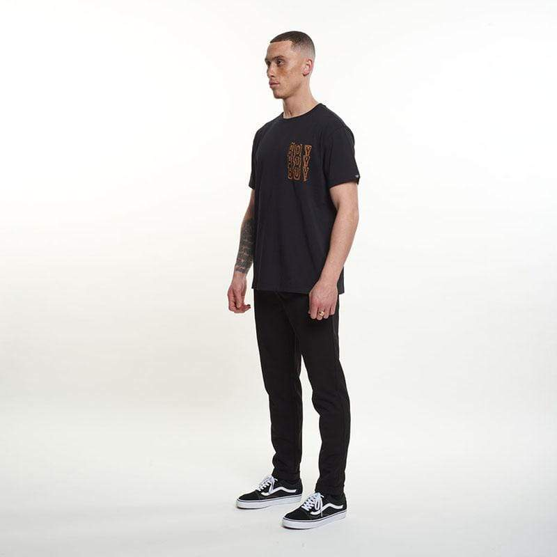 BOY London T-SHIRTS Boy Trippie Tee - Black/Rust