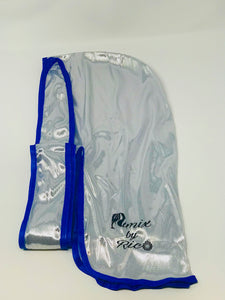 Rimix 8K Ultra Tuxedo Durag**Limited Edition - White/Blue Trim