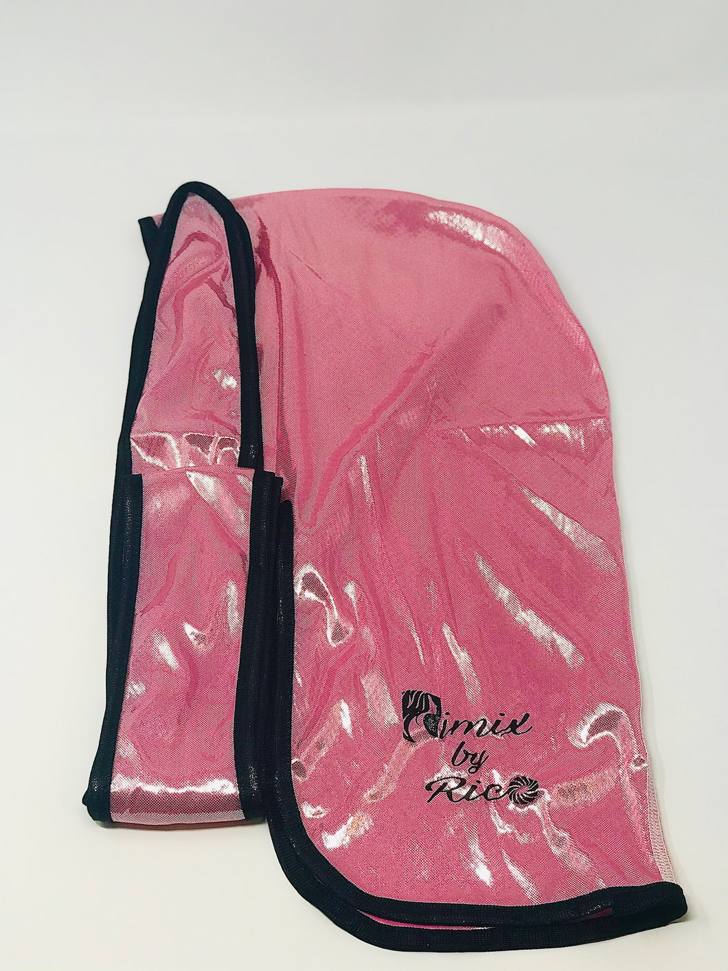 Rimix 8K Ultra Tuxedo Durag**Limited Edition - Pink/Black Trim
