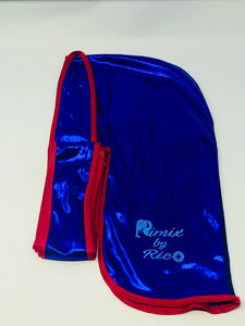 Rimix 8K Ultra Tuxedo Durag**Limited Edition - Blue/Red Trim