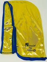 Load image into Gallery viewer, Rimix 8K Ultra Tuxedo Durag**Limited Edition - Yellow/Blue Trim