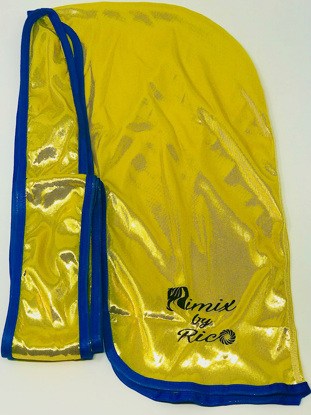 Rimix 8K Ultra Tuxedo Durag**Limited Edition - Yellow/Blue Trim