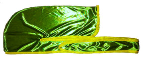 "Rimix *PATENT PENDING* Silky Durag **Limited Edition - Green/Yellow Trim (""Lemon Lime"")"