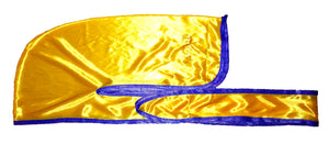 "Rimix *PATENT PENDING* Silky Durag **Limited Edition - Yellow Gold/Purple (""The Lake Show"" Kobe)"