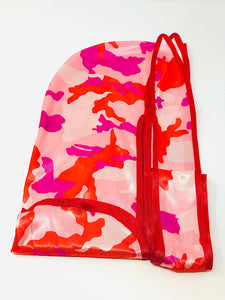 Rimix *PATENT PENDING* Silky Durag **Limited Edition - Pink Camouflage/Red Trim