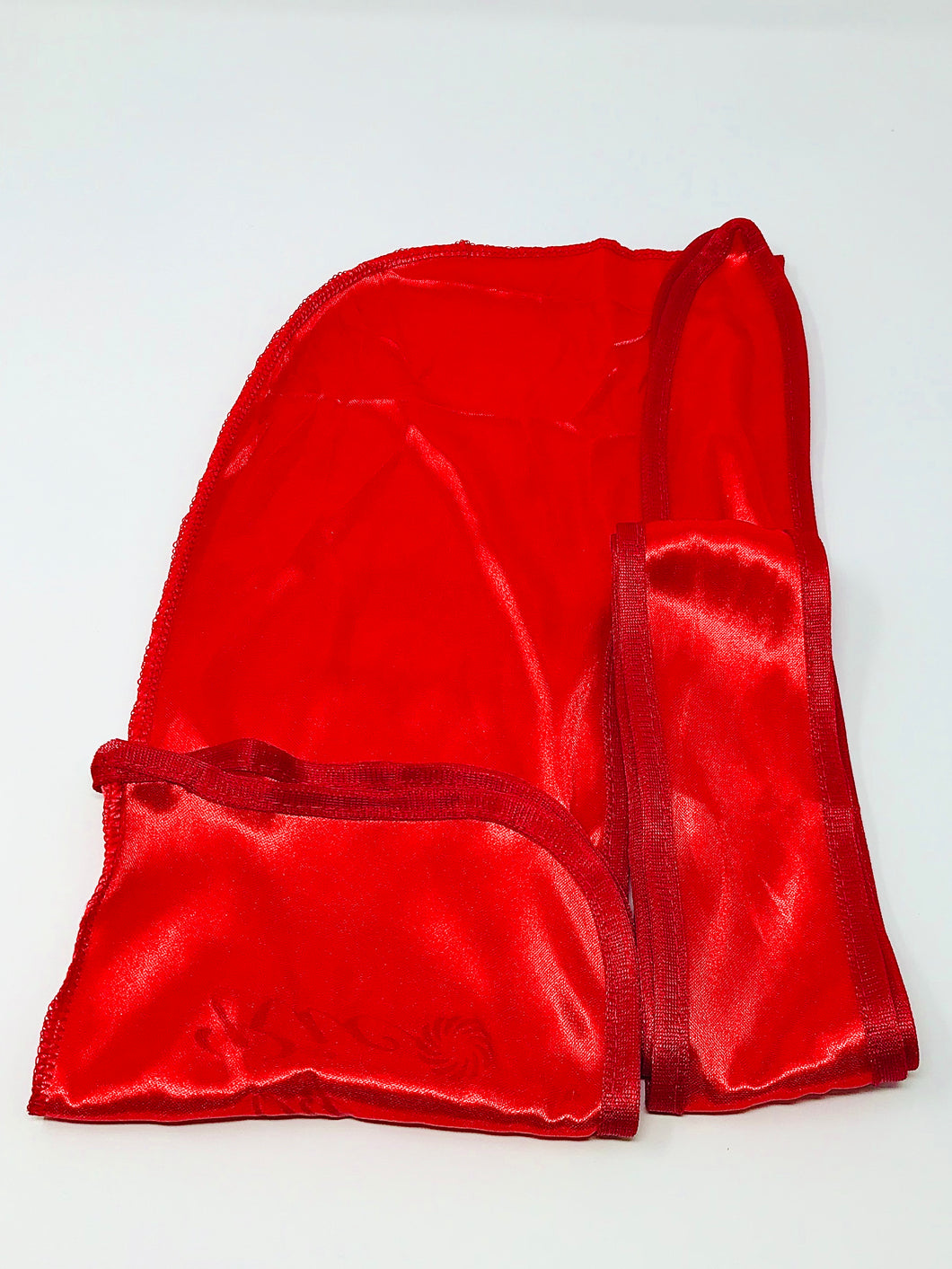Rimix *PATENT PENDING* Silky Durag **Limited Edition - Red/Red Trim