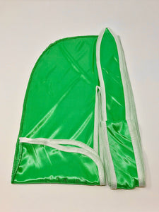 Rimix *PATENT PENDING* Silky Durag **Limited Edition - Green/White Trim