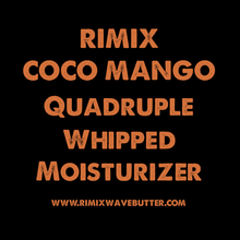 Load image into Gallery viewer, Rimix Coco Mango Quadruple Whipped Moisturizer (Oil Based) with Extra Dark Jamaican Black Castor Oil and Argan Oil**COCOA PUFFS LIMITED EDITION**