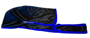 Rimix *PATENT PENDING* Silky Durag **Limited Edition - Black/Blue Trim