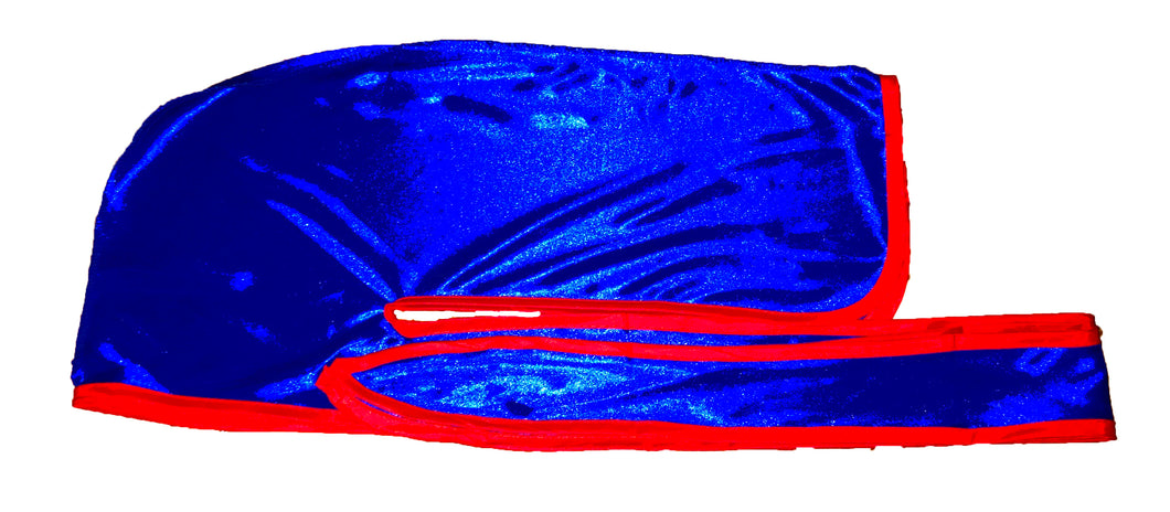 Rimix *PATENT PENDING* Silky Durag **Limited Edition - Blue/Red Trim