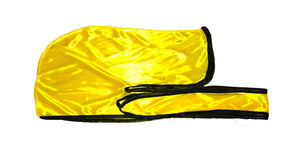 Rimix *PATENT PENDING* Silky Durag **Limited Edition - Yellow Gold/Black Trim
