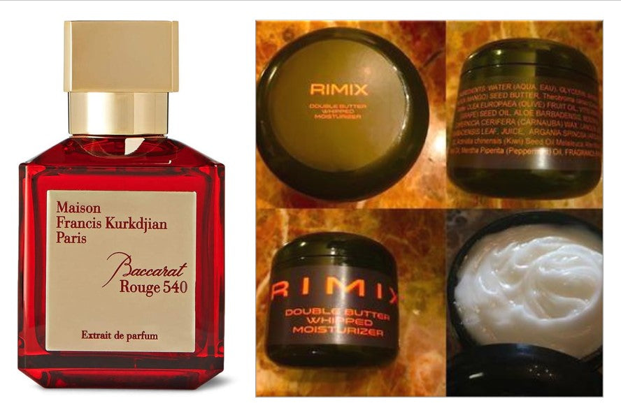 Rimix Double Butter Whipped Moisturizer - Inspired by Baccarat Rouge 540 w/ Rimix Rigain Hair Thickening Formula