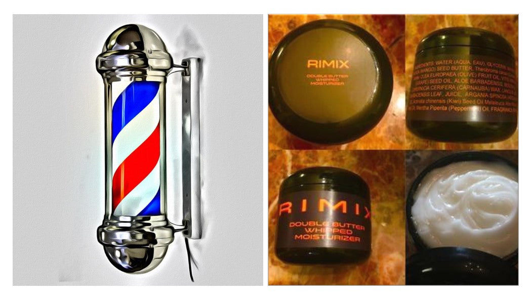 Rimix Double Butter Whipped Moisturizer - OG Barber Shop w/ Rimix Rigain Hair Thickening Formula