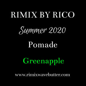 Rimix All-Natural Water Based Pomade**Greenapple**SUMMER 2020 Limited Edition
