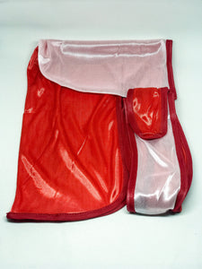 Rimix *PATENT PENDING* Two Tone Silky Durag **Limited Edition** - Red/White