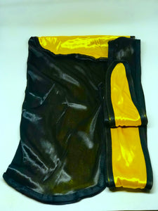 Rimix *PATENT PENDING* Two Tone Silky Durag **Limited Edition** - Black/Egyptian Gold