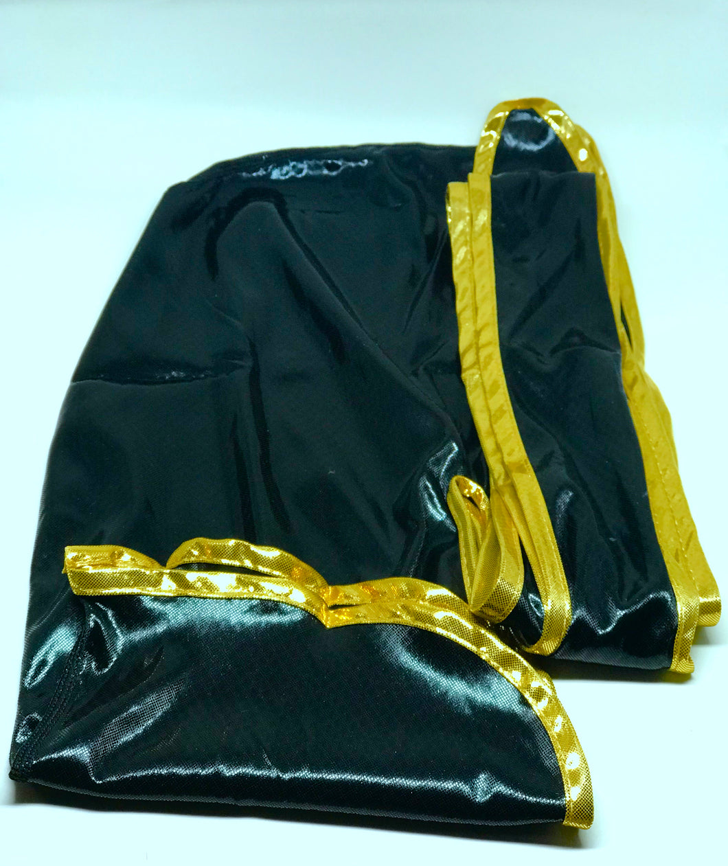 Rimix *PATENT PENDING* Silky Exclusive Platinum Edition Durag (4k Limited Edition) - Black/Gold (Black Panther)