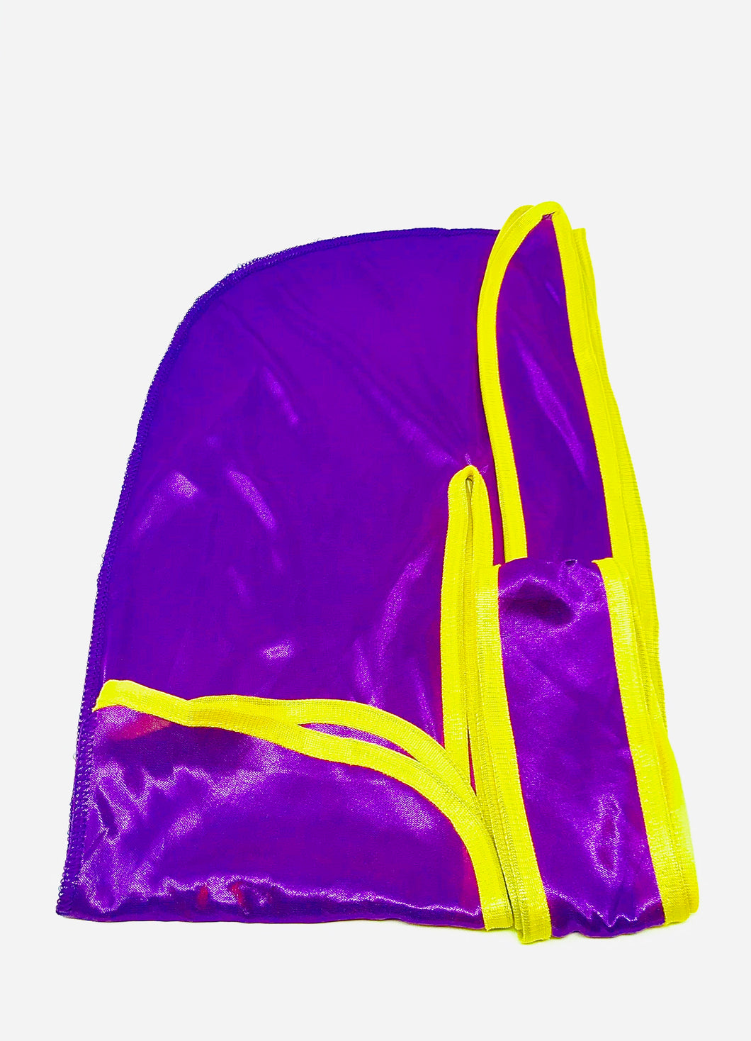 Rimix *PATENT PENDING* Silky Durag **Limited Edition - Purple/Yellow Trim