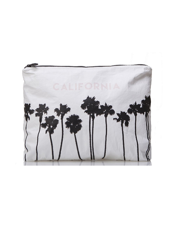 Aloha Collection: mid-Size California Palms Black Print