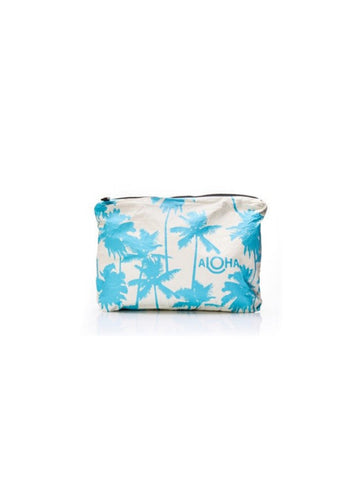 Aloha Collection Mid Size Pouch / Coco Palm Shaved Iced Blue