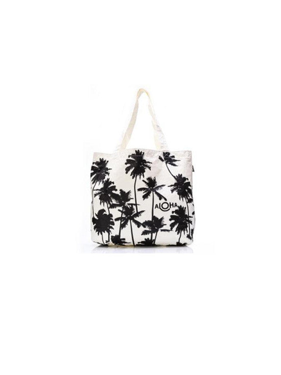 Aloha Collection Coco Palm Tote / Black