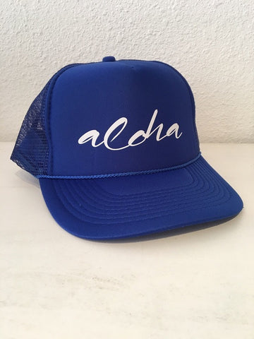 Turquoise Limited Caps: Aloha/Royal Blue