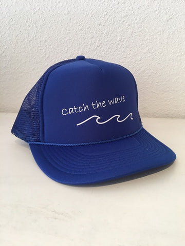 Turquoise Limited Caps: Catch the wave /Royal Blue