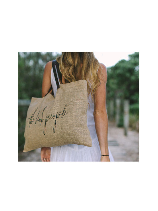 The Beach People Jute Bag / Logo