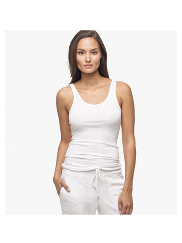 James Perse Ribbed Daily Tank / White